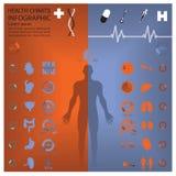 Ιατρικός και υγεία Infographic Infochart Στοκ εικόνες με δικαίωμα ελεύθερης χρήσης