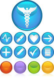 ιατρικός κύκλος εικονιδίων ελεύθερη απεικόνιση δικαιώματος