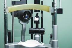 Ιατρικός optometrist εξοπλισμός που χρησιμοποιείται για τις εξετάσεις οφθαλμών Στοκ Εικόνες