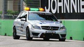 Ιατρικό αυτοκίνητο της Mercedes C63 AMG F1 σε Σινγκαπούρη GP Στοκ Εικόνα