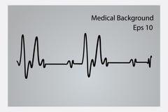 Ιατρικό αφηρημένο υπόβαθρο, ecg υπόβαθρο, ιατρικό υπόβαθρο δομών ελεύθερη απεικόνιση δικαιώματος