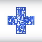 Ιατρικό εικονίδιο από τη διαγώνια μορφή ελεύθερη απεικόνιση δικαιώματος