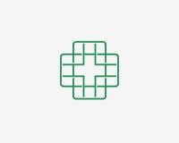 Ιατρικό εικονίδιο, πρότυπο σχεδίου εικονιδίων λογότυπων Στοκ φωτογραφία με δικαίωμα ελεύθερης χρήσης