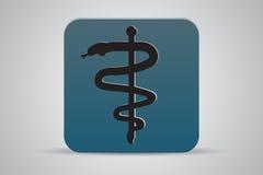 Ιατρικό εικονίδιο συμβόλων κηρυκείων Στοκ Εικόνα