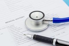 ιατρικό ερωτηματολόγιο Στοκ εικόνες με δικαίωμα ελεύθερης χρήσης