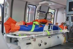 Ιατρικό ελικόπτερο Στοκ φωτογραφία με δικαίωμα ελεύθερης χρήσης