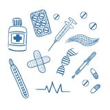 Ιατρικό διάνυσμα που απομονώνεται στο άσπρο υπόβαθρο Στοκ φωτογραφία με δικαίωμα ελεύθερης χρήσης