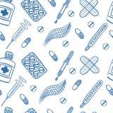 Ιατρικό διανυσματικό άνευ ραφής σχέδιο Στοκ φωτογραφία με δικαίωμα ελεύθερης χρήσης