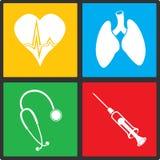Ιατρικό διανυσματικό σύνολο εικονιδίων Στοκ Εικόνες