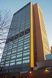 Ιατρικό κέντρο Πανεπιστημίου της Κολούμπια, κτήριο επιστήμης υγείας σφυριών, οπισθοσκόπο στοκ εικόνα