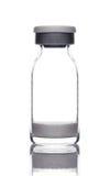 Ιατρικό μπουκάλι φιαλλιδίων γυαλιού με τη σκόνη Στοκ Φωτογραφίες