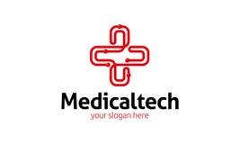Ιατρικό λογότυπο τεχνολογίας Στοκ φωτογραφία με δικαίωμα ελεύθερης χρήσης