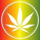 Ιατρικό λογότυπο φύλλων μαριχουάνα Στοκ Φωτογραφία