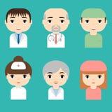 ιατρικό προσωπικό Επαγγελματικοί γιατροί και είδωλα νοσοκόμων Έννοια ιατρικής ομάδας Εικονίδιο χαρακτήρα κινουμένων σχεδίων ανθρώ απεικόνιση αποθεμάτων