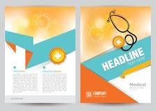 Ιατρικό πρότυπο σχεδιαγράμματος ιπτάμενων φυλλάδιων, A4 μέγεθος Στοκ Εικόνες
