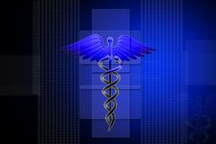 ιατρικό σημάδι κηρυκείων ελεύθερη απεικόνιση δικαιώματος