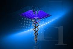 ιατρικό σημάδι κηρυκείων διανυσματική απεικόνιση