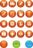 ιατρικό στρογγυλό σύνολο εικονιδίων Στοκ Εικόνες