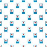Ιατρικό σχέδιο Ερυθρών Σταυρών άνευ ραφής διανυσματική απεικόνιση