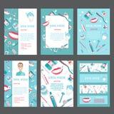 Ιατρικό σχέδιο προτύπων φυλλάδιων υγιεινής δοντιών Στοκ Εικόνες