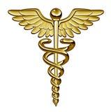 ιατρικό σύμβολο κηρυκείων Στοκ εικόνα με δικαίωμα ελεύθερης χρήσης