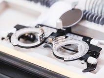 Ιατρικό σύνολο οπτομετρίας Στοκ φωτογραφίες με δικαίωμα ελεύθερης χρήσης