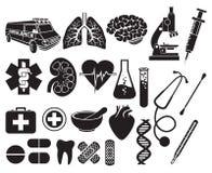 Ιατρικό σύνολο εικονιδίων Στοκ Εικόνα