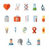 ιατρικό σύνολο εικόνας εικονιδίων σχεδίου Στοκ Εικόνα