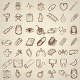 ιατρικό σύνολο εικόνας εικονιδίων σχεδίου Στοκ εικόνα με δικαίωμα ελεύθερης χρήσης