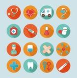 ιατρικό σύνολο εικόνας εικονιδίων σχεδίου Στοκ φωτογραφίες με δικαίωμα ελεύθερης χρήσης