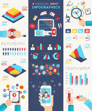 Ιατρικό σύνολο Infographics Στοκ φωτογραφία με δικαίωμα ελεύθερης χρήσης