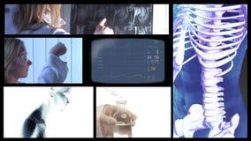 Ιατρικό τηλεοπτικό Montage απεικόνιση αποθεμάτων