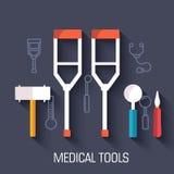 Ιατρικό υπόβαθρο εννοιών απεικονίσεων διάνυσμα Στοκ φωτογραφίες με δικαίωμα ελεύθερης χρήσης