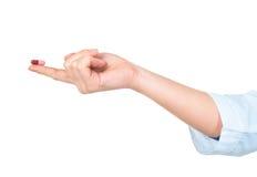 ιατρικό χάπι χεριών στοιχείων σχεδίου Στοκ εικόνες με δικαίωμα ελεύθερης χρήσης