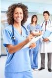 ιατρικό χαμόγελο νοσοκόμων Στοκ Φωτογραφία