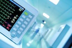 Ιατρικό όργανο ελέγχου στην προοπτική του εσωτερικού νοσοκομείων Στοκ Φωτογραφία