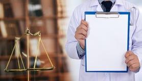 ιατρικό Bu υγειονομικής περίθαλψης συμμόρφωσης φαρμακείων νόμου δικαστών έννοιας νόμου στοκ εικόνα με δικαίωμα ελεύθερης χρήσης