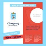 Ιατρικό clipboard Company πρότυπο φυλλάδιων r διανυσματική απεικόνιση