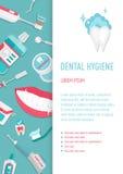 Ιατρικό infographic φυλλάδιο υγιεινής δοντιών Στοκ Φωτογραφία