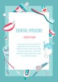 Ιατρικό infographic φυλλάδιο υγιεινής δοντιών Στοκ Εικόνες
