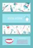 Ιατρικό infographic φυλλάδιο υγιεινής δοντιών Στοκ Εικόνα