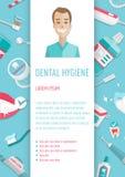 Ιατρικό infographic φυλλάδιο υγιεινής δοντιών A4 Στοκ εικόνα με δικαίωμα ελεύθερης χρήσης