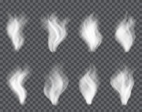 Διαφανής καπνός στο σκοτάδι ένα υπόβαθρο καρό Στοκ Εικόνες