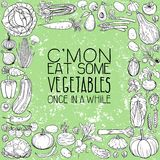 Διαφορετικά σχέδια λαχανικών Στοκ Εικόνες