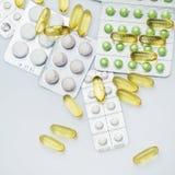 διαφορετικά χάπια Στοκ εικόνα με δικαίωμα ελεύθερης χρήσης