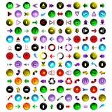 156 διαφορετικά χρωματισμένα βέλη Στοκ εικόνα με δικαίωμα ελεύθερης χρήσης