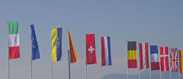 διαφορετικές σημαίες χωρών Στοκ Εικόνες