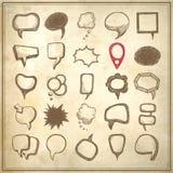 διαφορετική συλλογή λεκτικών φυσαλίδων 25 σκίτσων Στοκ Φωτογραφίες