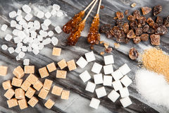 διαφορετικοί τύποι ζάχαρ&et στοκ φωτογραφία