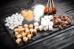 διαφορετικοί τύποι ζάχαρ&et στοκ εικόνα